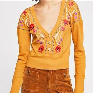 Free people Western Vibes Embroidered Top